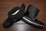 Сапоги дутики женские черные зимние на липучках С969, фото 3