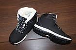 Ботинки черные зимние на шнуровке С966, фото 3