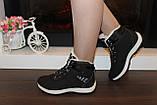 Ботинки черные зимние на шнуровке С966, фото 4