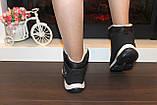 Ботинки черные зимние на шнуровке С966, фото 7