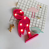 Светильник 3D Фламинго, фото 3