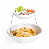 Складная подставка миска для чипсов фруктов Twistfold Party Bow White, фото 3