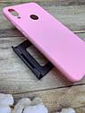 Xiaomi Redmi Note 7 чехол матовый цветной силиконовый розовый, фото 2