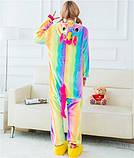 Пижама Кигуруми радужный единорог L, фото 3