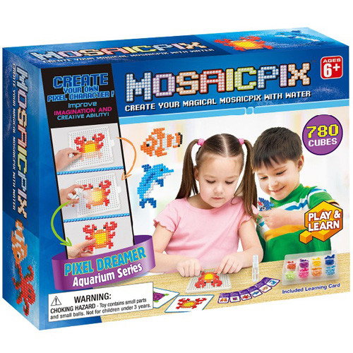 Аквамозаика мозаика для детей 5-6 лет Морские животные, 780 деталей в коробке, 55001