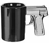Чашка Пистолет с серебряной ручкой, фото 2