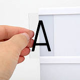 Интерьерный лайтбокс с буквами (А4 90 букв), фото 4