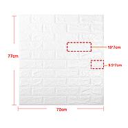 Декоративная 3D панель самоклейка под кирпич Розовый 700x770x7мм, фото 9