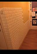Декоративная 3D панель самоклейка под кирпич серый Екатеринославский 700x770x5мм, фото 6