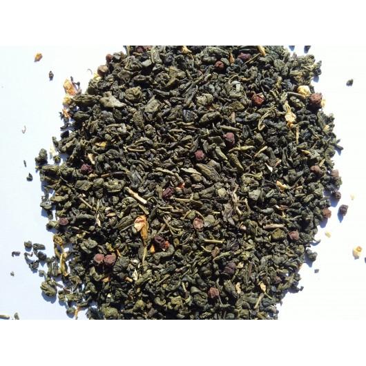 Чай зеленый Китайский лимонник крупно листовой Tea Star 250 гр