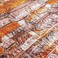 Декоративная 3D панель самоклейка под кирпич Екатеринославский песчаник 700x770x6мм, фото 2