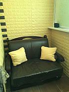 Декоративная 3D панель самоклейка под кирпич Желтый 700x770x5мм, фото 4