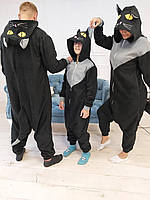Піжама Кигуруми Чорний кіт для всієї родини