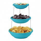 Складная подставка миска для чипсов фруктов Twistfold Party Bow Blue, фото 3