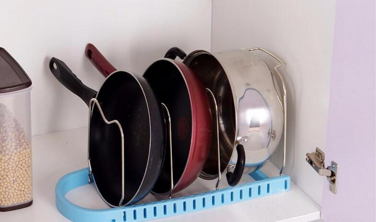 Подставка для сковородок, крышек, тарелок, кастрюль (Голубой)