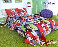 Детский полуторный комплект постельного белья ранфорс ТМ TAG Beyblade