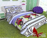 Детский полуторный комплект постельного белья ранфорс ТМ TAG R7408