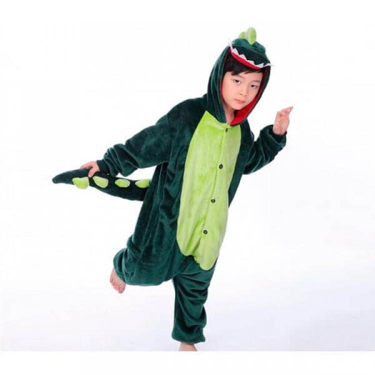 Детская пижама кигуруми Динозавр 100 см