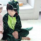 Детская пижама кигуруми Динозавр 100 см, фото 2