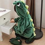 Детская пижама кигуруми Динозавр 100 см, фото 3