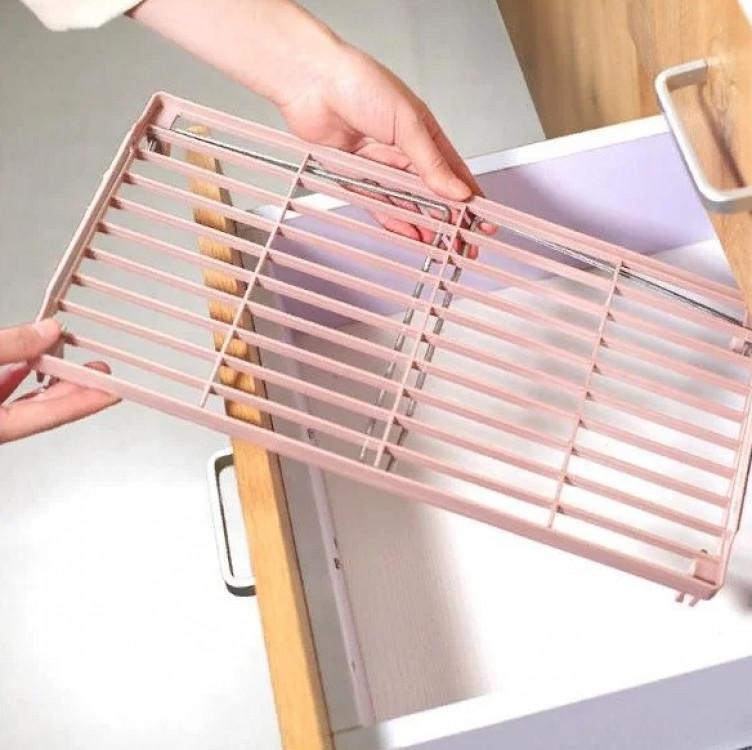 Складна Полку - столик, підставка, стелаж 38х13,5 (Рожевий)