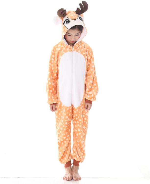 Детская пижама кигуруми Олененок 120 см