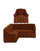 Чехол на угловой диван и кресло, чехол на диван, фото 1