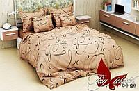 ТМ TAG Двуспальный комплект постельного белья ренфорс R4047beige