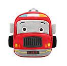 Детский плюшевый рюкзак сумка для мальчика 2-4 года Fire Car (Пожарная машина), фото 2
