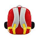 Детский плюшевый рюкзак сумка для мальчика 2-4 года Fire Car (Пожарная машина), фото 3