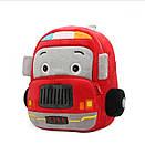 Детский плюшевый рюкзак сумка для мальчика 2-4 года Fire Car (Пожарная машина), фото 4
