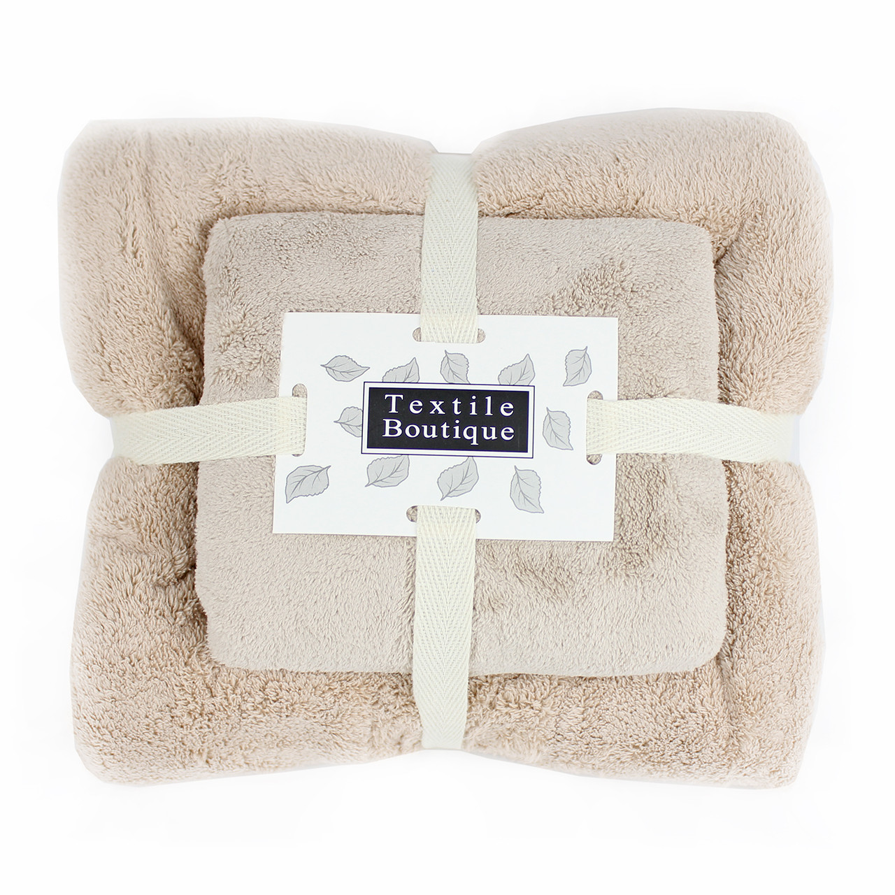 Набор полотенец подарочный для лица и тела микрофибра 140x70, 75x30см