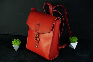 """Жіночий Рюкзак """"Модель №78"""" кожа Італійський краст, колір зелений, фото 3"""