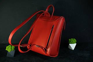 """Жіночий Рюкзак """"Модель №78"""" кожа Італійський краст, колір зелений, фото 2"""