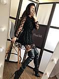 Платье женское чёрное в горошек вечернее нарядное, фото 2