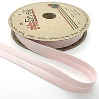 Бейка хлопковая нежно-розовая 20 мм