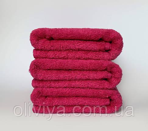 Махрове простирадло 100% бавовна рожевого кольору 155х220, фото 2