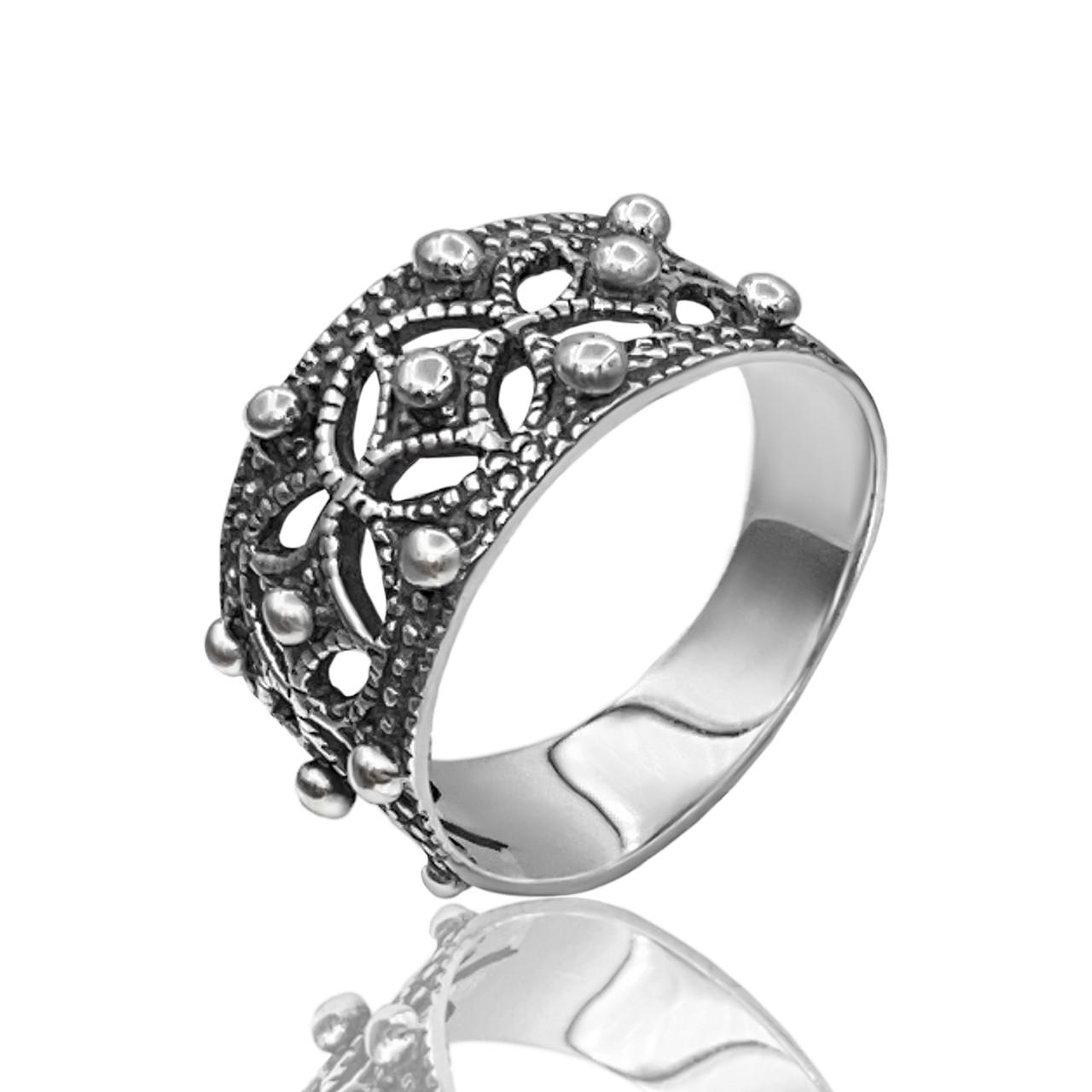 Серебряное кольцо в Венецианском стиле