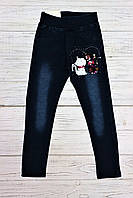 Утепленные  лосины под джинс для девочек , Венгрия, фото 1
