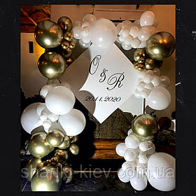 """Свадебная Фотозона из шаров """"Shine"""""""