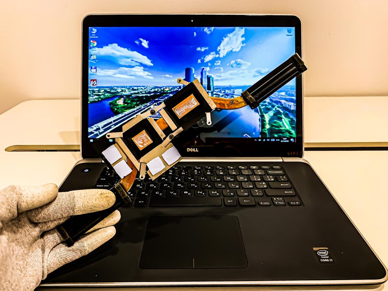 Сервисное обслуживание ноутбука DELL Precision M3800 - чистка системы охлаждения, замена термопасты / Киев