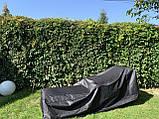 Лежак шезлонг из ротанга на колесах белый, фото 10
