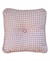 Подушка декоративна 35х35 Bella Рожева клітинка SKL58-251939