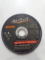 Круг шліфувальний Gradient 125x6,0x22,23 мм