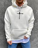 Толстовка мужская белая на флисе, фото 3