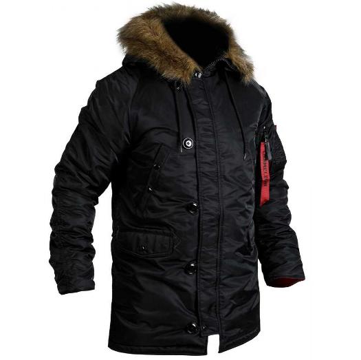 """Куртка зимняя """"slim fit"""" Аляска Black"""