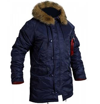 Куртка зимняя slim fit аляска n-3b Navy Blue