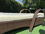 Лежак из ротанга с колесами + матрас!, фото 6