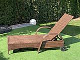 Лежак из ротанга с колесами + матрас!, фото 8