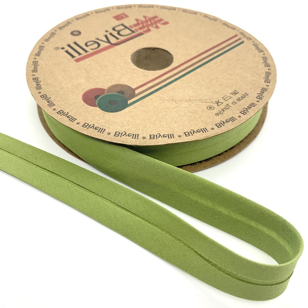 Бейка хлопковая салатовая 20 мм